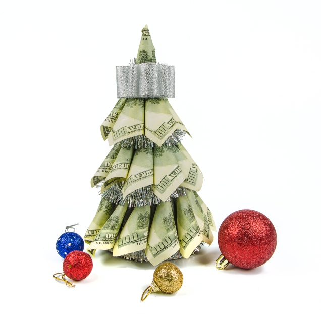 money-christmas-tree